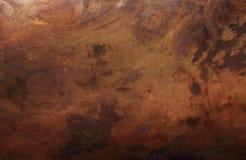 Vieja textura de cobre Foto de archivo libre de regalías