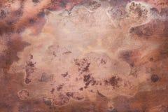 Vieja textura de cobre foto de archivo
