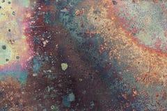 Vieja textura de cobre imagenes de archivo