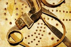 Vieja textura de cuero Fotos de archivo