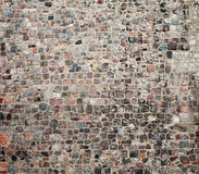 Vieja textura de la calle de la piedra del adoquín Foto de archivo