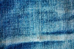 Vieja textura de la mezclilla azul fotos de archivo