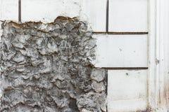 Vieja textura de la pared con daños fotos de archivo libres de regalías