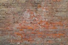Vieja textura de la pared de ladrillos rojos Foto de archivo libre de regalías