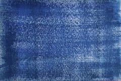 Vieja textura de la pared del fondo azul Imágenes de archivo libres de regalías