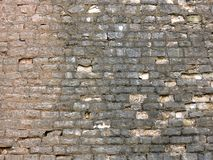 Vieja textura de la pared de ladrillo del fondo vendimia Fotografía de archivo
