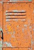 Vieja textura de la puerta del metal Imágenes de archivo libres de regalías