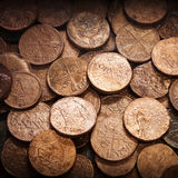 Vieja textura de las monedas Imagen de archivo libre de regalías