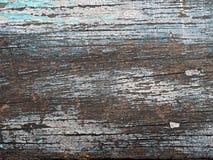 Vieja textura de madera con la pintura agrietada de la peladura, fondo del Grunge Fotografía de archivo