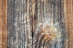 Vieja textura de madera del fondo Fondo de madera del vintage con los nudos y los agujeros de clavo Fotografía de archivo libre de regalías