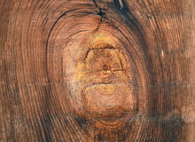 Vieja textura de madera del fondo Fondo de madera del vintage con los nudos y los agujeros de clavo Foto de archivo libre de regalías