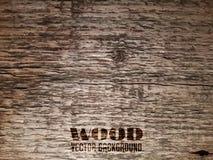 Vieja textura de madera del vector Fotos de archivo