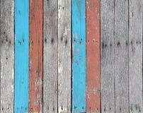 Vieja textura de madera muchos de color, estilo del vintage Foto de archivo libre de regalías