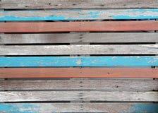 Vieja textura de madera muchos de color, estilo del vintage Fotografía de archivo