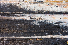 Vieja textura de madera quemada Imagen de archivo libre de regalías