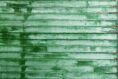 Vieja textura de madera verde de la superficie de la pared Fotos de archivo