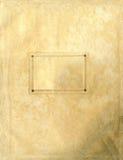 Vieja textura de papel áspera con la escritura de la etiqueta clara Fotos de archivo