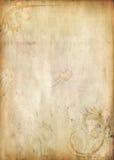 VIEJA TEXTURA DE PAPEL CON GRUNGE FLORAL Imagenes de archivo