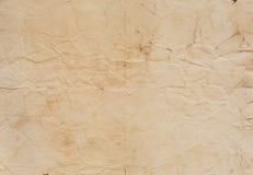 Vieja textura de papel con las líneas del doblez Fotos de archivo libres de regalías