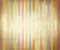 Vieja textura de papel del vector con las rayas coloridas. Foto de archivo