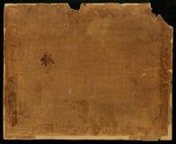 Vieja textura de papel Papel viejo del Grunge para el mapa o el vintage del tesoro En un fondo negro Imagenes de archivo