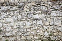 Vieja textura de piedra de la pared Bloques de la roca en ladrillo medieval viejo Imágenes de archivo libres de regalías