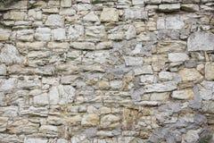Vieja textura de piedra de la pared Bloques de la roca en ladrillo medieval viejo Imagen de archivo libre de regalías