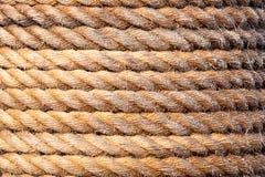 Vieja textura del fondo de la cuerda del velero Versión del paisaje imagenes de archivo