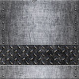 Vieja textura del fondo del metal Imagen de archivo