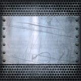 Vieja textura del fondo del metal Fotos de archivo