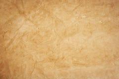 Vieja textura del papel de Kraft imagen de archivo