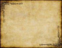 Vieja textura del papel de pergamino Fotografía de archivo libre de regalías