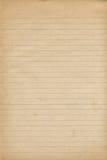 Vieja textura del papel del cuaderno Imagenes de archivo
