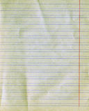 Vieja textura del papel gobernado Fotografía de archivo libre de regalías