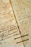 Vieja textura inconsútil de la carta, el manuscrito viejo Imagen de archivo