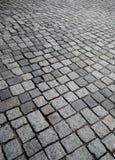 Vieja textura o fondo de la calle de la piedra del adoquín Foto de archivo