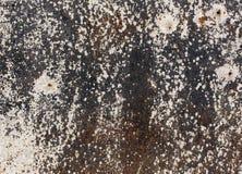 Vieja textura oxidada de la pared del metal Foto de archivo