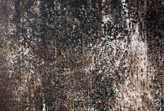 Vieja textura oxidada de la pared del metal Fotografía de archivo