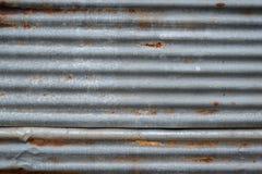 Vieja textura oxidada del cinc imagen de archivo