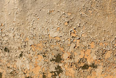 Vieja textura pintada agrietada de la pared del color Imagenes de archivo