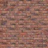 Vieja textura roja de la pared de ladrillo Imágenes de archivo libres de regalías