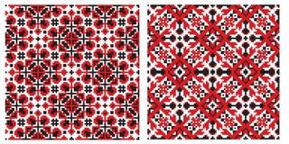 Vieja textura ucraniana del bordado Imágenes de archivo libres de regalías