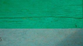 Vieja textura verde de madera Imagen de archivo