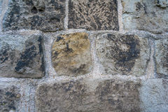 Vieja tierra de la parte posterior de la pared de piedra fotografía de archivo libre de regalías