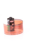 Vieja tira de la película negativa de 35 milímetros Imagen de archivo