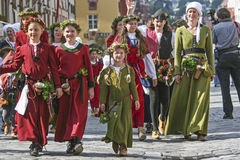 Vieja tradición - boda del ` s del príncipe en Landshut Fotografía de archivo