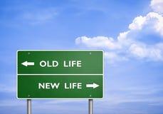 Vieja vida - nueva vida ilustración del vector