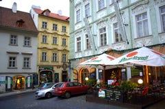 Vieja vista de la ciudad de Praga Fotos de archivo