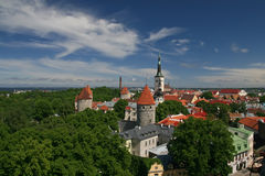 Vieja vista de Tallin Fotos de archivo