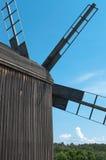 Vieja vista posterior del molino de viento del propulsor. Foto de archivo libre de regalías